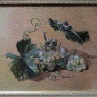 Вышивка гладью: ветка винограда (выставка мастериц-вышивальщиц) :: Ирина Лушагина