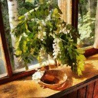 Белой акации гроздья душистые ... :: Сергей Козырев