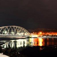 Кольский мост ночью :: Роман Кудрин