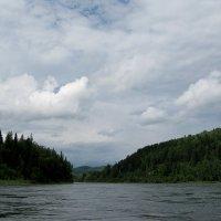Сплав по спокойной реке Казыр.Возвращение...Идем на грозу! :: Любовь Иванова