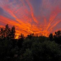 Огненный закат. :: Виктор Грузнов