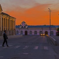 вид большого и малого гостинного двора в Кунгуре . :: Максимус Кунгурский