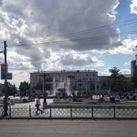 Театральная площадь летним вечером :: Наталья Покацкая