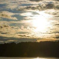 закат на Ермаковском пруду :: Юлия Маркелова