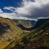 Перевал Кату-Ярык,спуск в долину реки Чулышман. :: Алексей