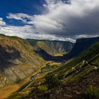 Перевал Кату-Ярык,спуск в долину реки Чулышман. :: Алексей Мезенцев