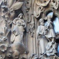 Барселона. Собор Святого Семейства. Рельефные панно на фасаде - 4 :: татьяна