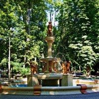утром рано у фонтана :: Александр Корчемный
