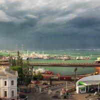 А на том берегу,дождь :: Сергей Форос