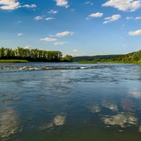 Бурное течение реки Томь :: Владимир Деньгуб