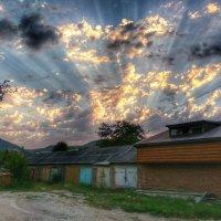 Закат в деревне :: Олеся Енина