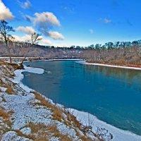 Зима, Десна, пейзаж :: Дубовцев Евгений