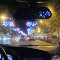 Новогодняя Барса из окна  Ситроена :: Вячеслав Случившийся