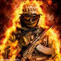 солдат в огне :: Максим Апрятин