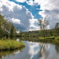 Озере под облаками. :: Александр Гурьянов