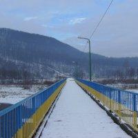 Мост   через   Быстрицу   Надворнянскую  в   Надворной :: Андрей  Васильевич Коляскин