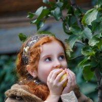 Девочка и яблоко :: Y Laskina