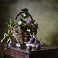 Натюрморт с корзиной и сливами. :: Оксана Евкодимова