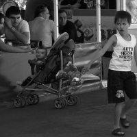 Скучно  мальчишке. :: Валерия  Полещикова