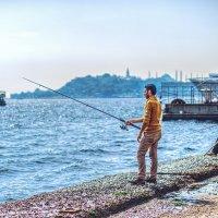 Рыбаки на Босфоре :: Ирина Лепнёва