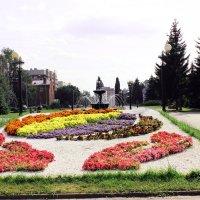 Цветник у  фонтана :: раиса Орловская