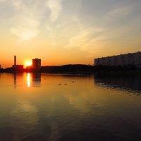 По-летнему теплый сентябрьский вечер на пруду :: Андрей Лукьянов