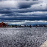 Питер вид с Малоохтинской набережной на Большеохтинский мост :: Юрий Плеханов
