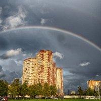 Питер пр Космонавтов вчерашняя вечерняя радуга :: Юрий Плеханов