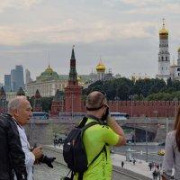 Вид с парящего моста в сторону Кремля. :: Татьяна Помогалова