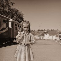 Путешествие на детскую железную дорогу :: Evgenia Glazkova