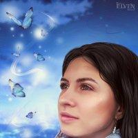 Мультяшка с бабочками :: Дарья Суркина