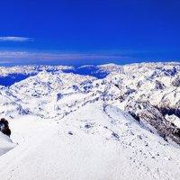 Вид с Эльбруса, высота 5642 метра. Южная панорама. :: Вячеслав Ложкин