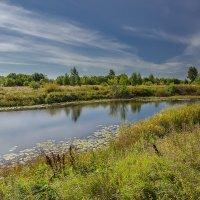 Пейзаж с маленькой речкой :: Александр Синдерёв