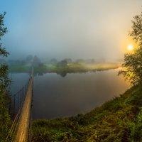 Подвесной мост через реку Оять :: Фёдор. Лашков