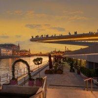 Вид на парящий мост (вечер). Москва :: Борис Гольдберг