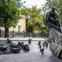 Памятник М. А. Шолохову на Гоголевском бульваре :: Владимир Безбородов