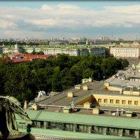 С высоты на Санкт-Петербург ( виден Эрмитаж) :: Galina Belugina