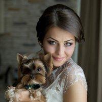 Юля-портрет невесты с собачкой :: Вячеслав Шах-Гусейнов