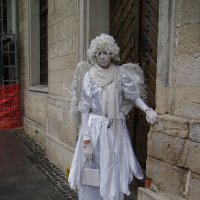 Живая  скульптура   в   Львове :: Андрей  Васильевич Коляскин