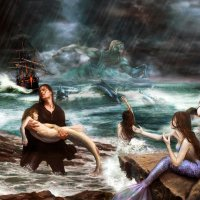 """Фентази на тему:  """"Нептун и Русалки"""" :: Aleks Ben Israel"""