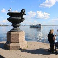 Как провожают пароходы... :: Ольга
