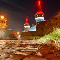 Древняя брусчатка на фоне не менее древнего Каменец-Подольского замка :: Леонид Школьный
