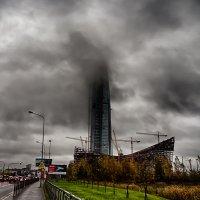 Питер башня Мордора тоесть Газпрома в туче :: Юрий Плеханов