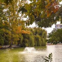 Осенний фонтан :: Александр Смольников