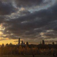 Закат с видом Кремль. Зарядье. :: Александра