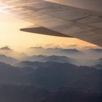 горы швейцарии из окна самолета 4 :: Андрей Бондаренко