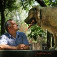 Пес Самур с хозяином :: Сергей Порфирьев