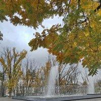 октябрьские фонтаны в дождливый день :: Алексей Меринов