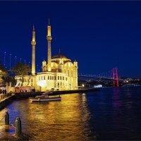 Ортакёй и Босфорские мост ночью :: Ирина Лепнёва