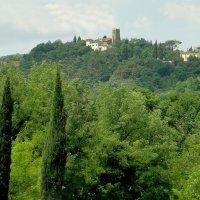 По дороге из Рима во Флоренцию. Вид на холм пьяццале Микельанджело :: Елена Павлова (Смолова)